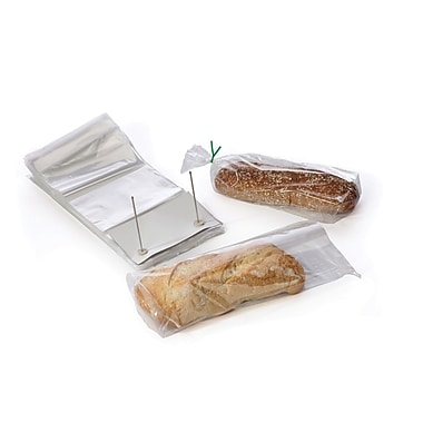 Clear Wicketed Bread Bags 1.25 mil, 9.25x14.5, 1000/Case