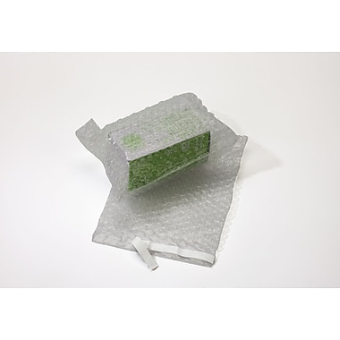 Clear Bubble Bags with Lip & Tape, 7x8.5