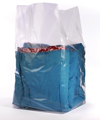 """""""""""12 x 8 x 24"""""""""""""""" Gusseted Poly Bags, 1.5 mil, Clear, 1000/Carton (1475)"""""""""""" 692881"""