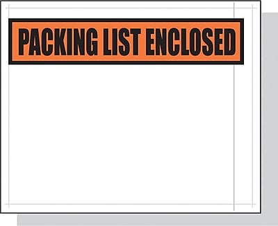 Packing List Envelopes, Clear, 4.5 x 5.5