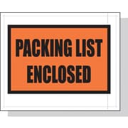 "Laddawn 4.5"" x 5.5"" Packing List Envelopes, White Back/Clear Front w/Print LD, 1000/Case (3860)"