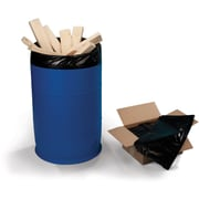 Black LDPE Drum Liners 6 mil, 55 Gallon Bags, 50/Carton