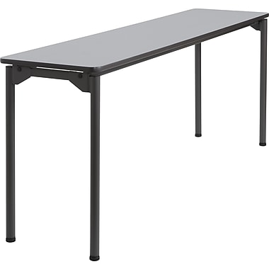 Iceberg Maxx Legroom Rectangular Folding Table, Gray, 29 1/2