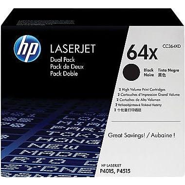 HP 64X Black Toner Cartridge (CC364XD), High Yield, Twin Pack