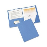 Avery(R) Two-Pocket Folders 47976, Light Blue, Pack of 25