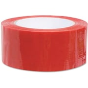"""Commercial Grade Color-Coding Packaging Tape, 1.88"""" x 109.3 yards, 3"""" Core, Red"""