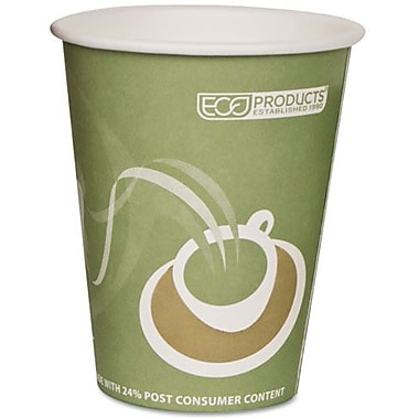 Eco-Products® Evolution World™ 24% PCF Hot Drink Cup, 12 oz., Sea Green, 50/Pack