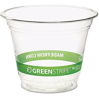 Eco-Products® Compostable Corn Plastic Cold Cup, 9 oz., Clear, 50/Pack