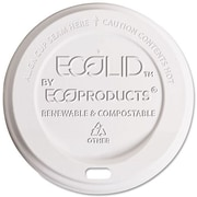 Eco-Products® Plastic Lids, White, 800/Ct