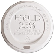 Eco-Products® 25% Recycled Content Hot Cup Lid for 8 oz. Hot Cups, White, 1000/Carton