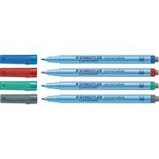 Staedtler® – Marqueurs à effacement Lumocolor, pointe moyenne, couleurs variées, paq./4
