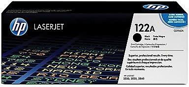 HP 122A Black Toner Cartridge (Q3960A), High Yield