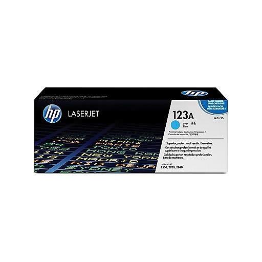 HP HP 123A CYAN TONER 2,000 PAGE YIELD DAMAGED PACKAGING
