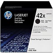 HP 42X Black High Yield Toner Cartridge, 2/Pack