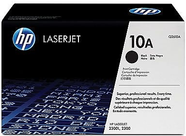 HP 10A Black Toner Cartridge (Q2610A)