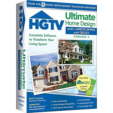HGTV® – Logiciel Ultimate Home Design With Landscaping And Decks Version 3, anglais