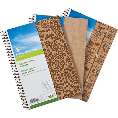 Sustainable Earth by Staples™ – Cahier de notes à base de canne à sucre, 9-1/2 po x 6 po, 200 pages