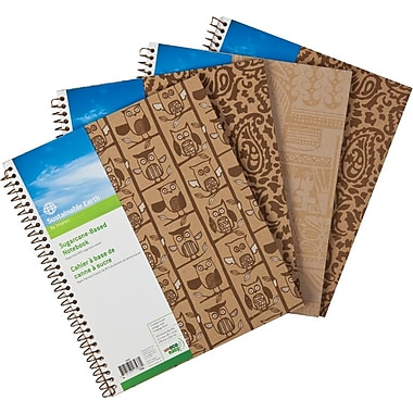Sustainable Earth by Staples™ – Cahier de notes à base de canne à sucre, 11 po x 8-1/2 po, 200 pages