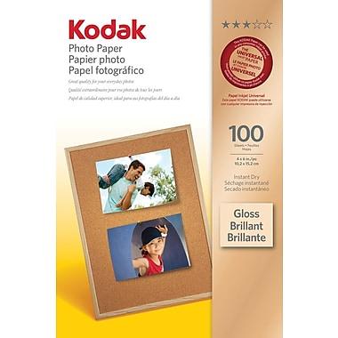 Kodak - Papier photo, légèrement lustré, 4 x 6 po, paq./100