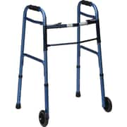 DMI®Two-Button Release Folding Walker, Aluminum, Blue Ice