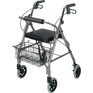 DMI® Ultra Lightweight Aluminum Rollator with Straight Backrest, Titanium