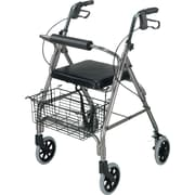 DMI® Ultra Lightweight Aluminum Rollator with Straight Backrest, Titanium