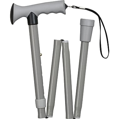 HealthSmart™ Folding Comfort Grip Cane, Gray