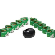 "Scotch® Designer Desktop Dispenser with Magic™ Tape, 810 Refill, 3/4"" x 1,000"", 1"" Core, 10 Rolls/Pk"