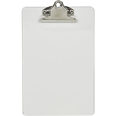 Staples® Plastic Clipboard, Clear, 6