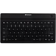 Verbatim, Ultra-Slim Bluetooth Wireless Mobile Keyboard, Black