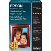 Epson® – Papier photo Ultra de haute qualité, glacé, 4 po x 6 po, paq./60