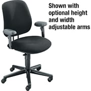 HON 7700 Series Fabric Computer and Desk Office Chair, Black, Armless Arm (H7701HAB10T)