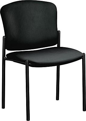 HON® Pagoda® Stacking Guest Chair, Black, 2/Carton (HON4073EE11T)