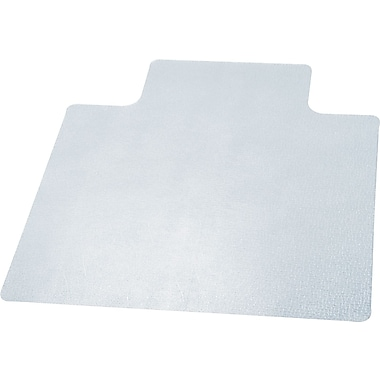 Deflecto EconoMat® 53''x25'' Vinyl Chair Mat for Hard Floor, Rectangular w/Lip (CM21232)