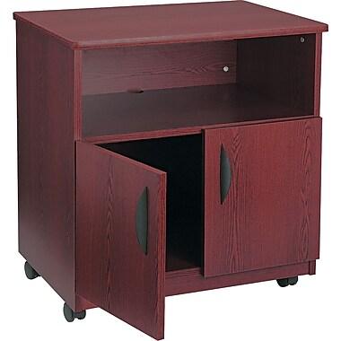 Safco® Mobile Laminate Machine Stand Furniture Grade, Mahogany, 30 1/4