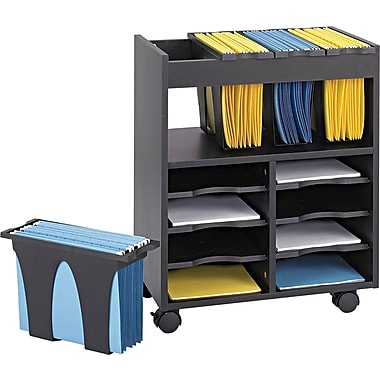 Safco® Go Cart™ Mobile File Carts Metal Mobile File
