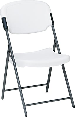 Iceberg 64003 Polyethylene Folding Chair, Platinum/White