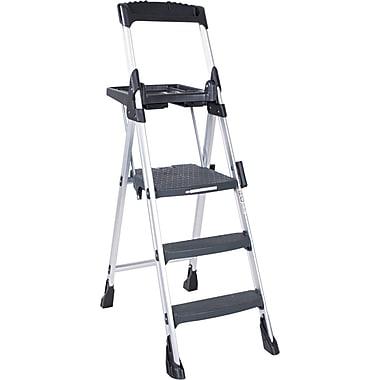Cosco® Platform Step Stools Aluminum, Black, 69