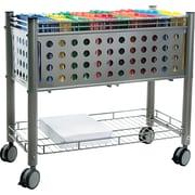 "Vertiflex™ Mobile File Carts Steel, Wire, Matte Gray, 27 3/8""H x 28 1/4""W x 13 3/4""D"