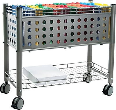 Vertiflex™ Mobile File Carts Steel, Wire, Matte Gray, 27 3/8