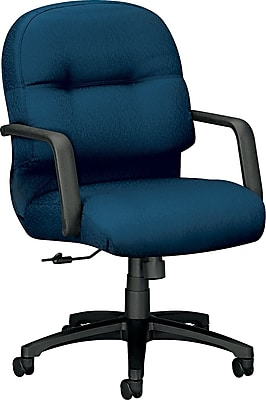 HON Pillow-Soft Managerial/Midback Chair, Fabric, Mariner, Seat: 22