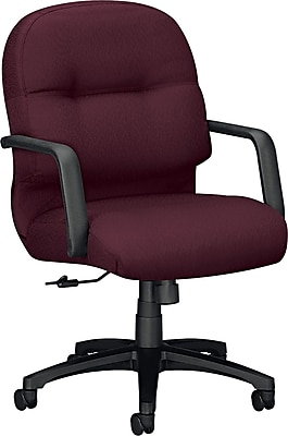 HON Pillow-Soft Managerial/Midback Chair, Fabric, Wine, Seat: 22