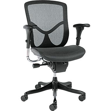 Alera™ EQ Series Ergonomic Multifunctional Chairs; Mid-Back, Black Base