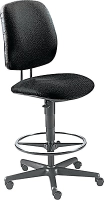 HON® 7700 Series Fabric Pneumatic Drafting/Task Stool, Black