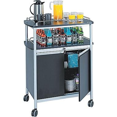 Safco ® Beverage Carts Melamine, Black