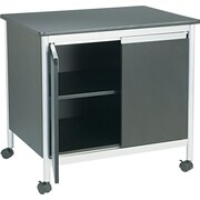 "Safco ® 30 1/4""H x 32""W x 24 1/4""D Machine Stand, Black/Silver"