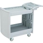 "Safco ® 37 1/4""H x 45""W x 23""D Two Shelf Utility Cart, Gray"