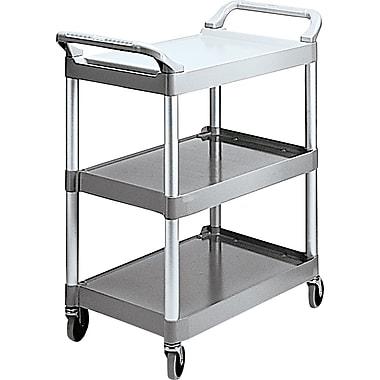 Rubbermaid® Commercial Plastic Utility Carts Brushed Aluminum, Plastic Platinum