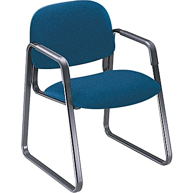 HON® Solutions - 4000 Series Sled Base Guest/Side Chair, Fabric, Blue, Seat: 20