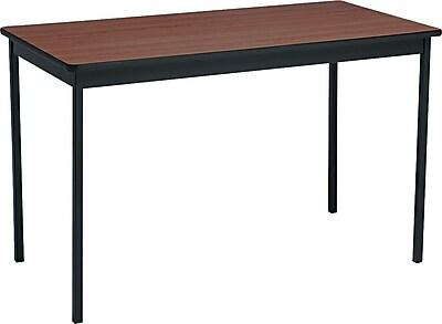 Barricks® Utility Table, Walnut/Black, 30